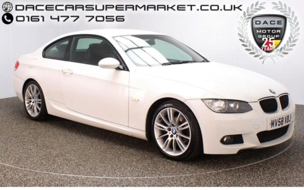 Used 2008 WHITE BMW 3 SERIES Coupe 2.0 320I M SPORT 2DR HEATED LEATHER PARKING SENSOR 168 BHP (reg. 2008-09-01) for sale in Stockport