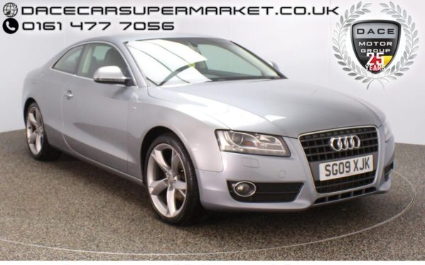 Used 2009 GREY AUDI A5 Coupe 2.0 TFSI 3DR MANUAL HEATED LEATHER SEATS 178 BHP (reg. 2009-03-14) for sale in Stockport