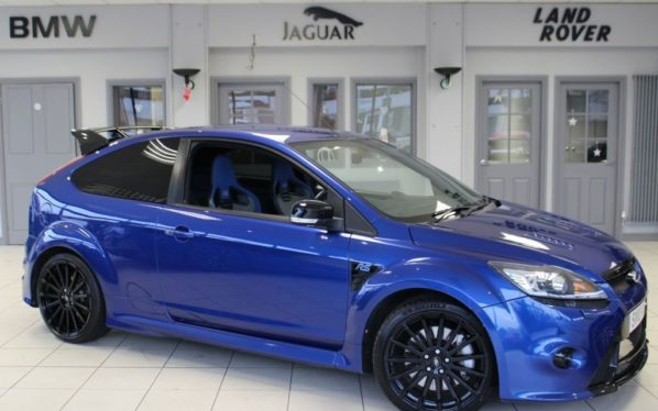 Used 2010 BLUE FORD FOCUS Hatchback 2.5 RS 3d 300 BHP (reg. 2010-03-03) for sale in Hazel Grove