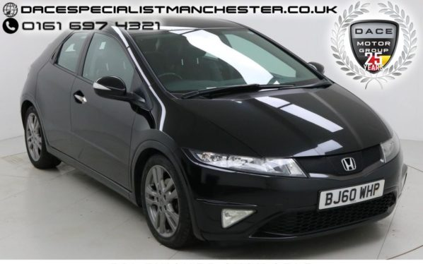 Used 2011 BLACK HONDA CIVIC Hatchback 2.2 I-CTDI CI 5d 138 BHP (reg. 2011-11-19) for sale in Manchester