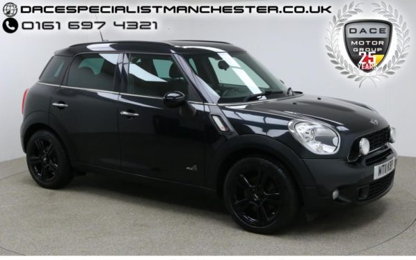 Used 2011 BLACK MINI COUNTRYMAN Hatchback 1.6 COOPER S ALL4 5DR 184 BHP (reg. 2011-05-27) for sale in Manchester