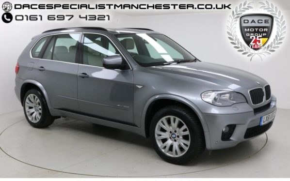 Used 2011 GREY BMW X5 Estate 3.0 XDRIVE30D M SPORT 5d AUTO 241 BHP (reg. 2011-09-02) for sale in Manchester