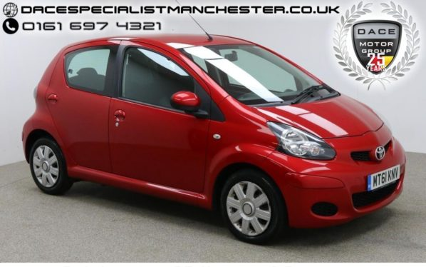 Used 2011 RED TOYOTA AYGO Hatchback 1.0 VVT-I ICE 5d 68 BHP (reg. 2011-12-28) for sale in Manchester