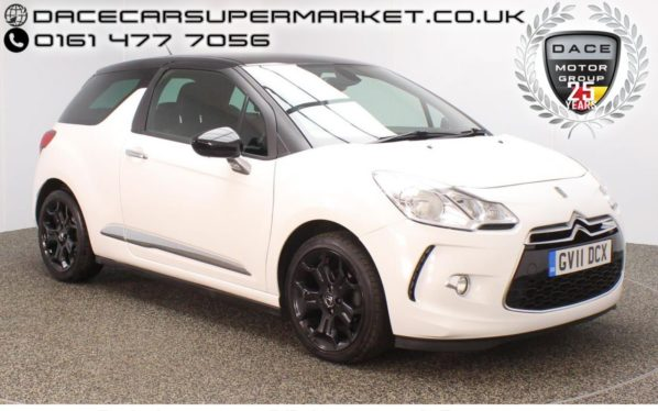 Used 2011 WHITE CITROEN DS3 Hatchback 1.6 E-HDI DSTYLE PLUS 3DR HALF LEATHER 90 BHP (reg. 2011-07-30) for sale in Stockport