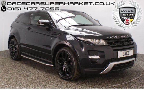 Used 2012 BLACK LAND ROVER RANGE ROVER EVOQUE Coupe 2.2 SD4 DYNAMIC 3DR AUTO 190 BHP (reg. 2012-06-05) for sale in Stockport