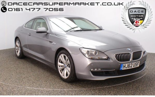 Used 2012 GREY BMW 6 SERIES Coupe 3.0 640D SE 2DR AUTO 309 BHP PRO SAT NAV HEATED LEATHER (reg. 2012-09-20) for sale in Stockport