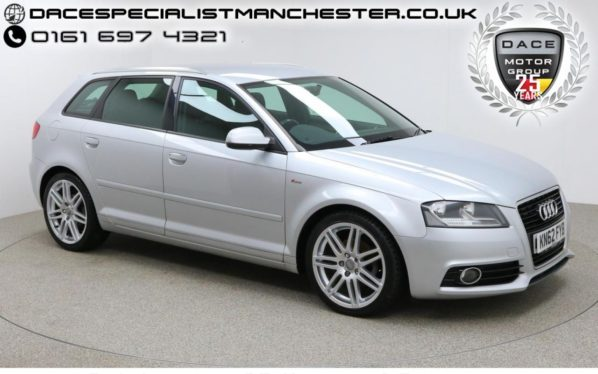 Used 2012 SILVER AUDI A3 Hatchback 1.6 TDI S LINE 5d 103 BHP (reg. 2012-10-03) for sale in Manchester