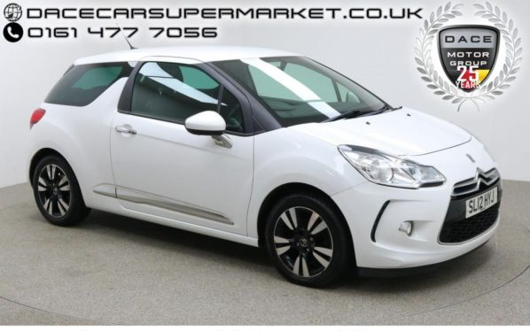 Used 2012 WHITE CITROEN DS3 Hatchback 1.6 E-HDI DSTYLE 3d 90 BHP (reg. 2012-03-22) for sale in Manchester