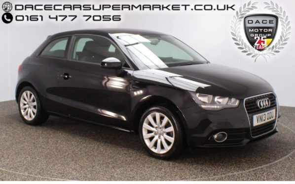 Used 2013 BLACK AUDI A1 Hatchback 1.4 TFSI SPORT 3DR 1 OWNER 122 BHP (reg. 2013-06-25) for sale in Stockport