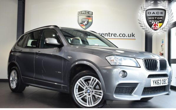 Used 2013 GREY BMW X3 Estate 2.0 XDRIVE20D M SPORT 5DR AUTO 181 BHP superb service history (reg. 2013-09-19) for sale in Bolton