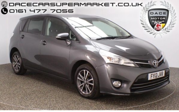 Used 2013 GREY TOYOTA VERSO MPV 2.0 ICON D-4D 5DR 7 SEATS REVERSE CAMERA 122 BHP (reg. 2013-03-27) for sale in Stockport