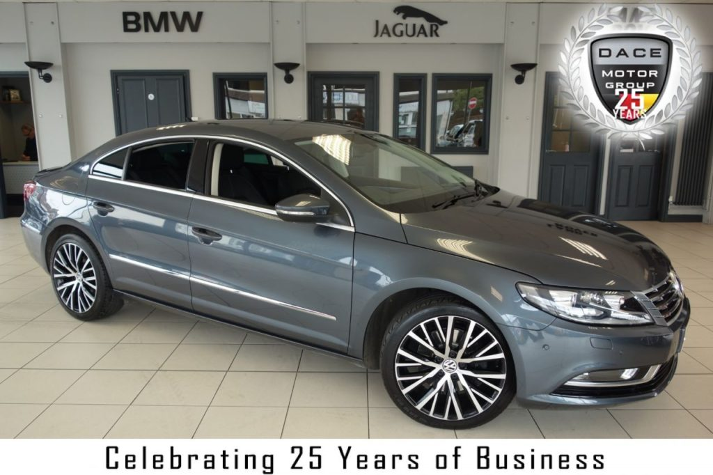 Used 2013 GREY VOLKSWAGEN CC Coupe 2.0 GT TDI BLUEMOTION TECHNOLOGY DSG 4d AUTO 168 BHP (reg. 2013-05-30) for sale in Hazel Grove