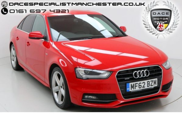 Used 2013 RED AUDI A4 Saloon 2.0 TDI QUATTRO S LINE 4d 174 BHP (reg. 2013-09-01) for sale in Manchester