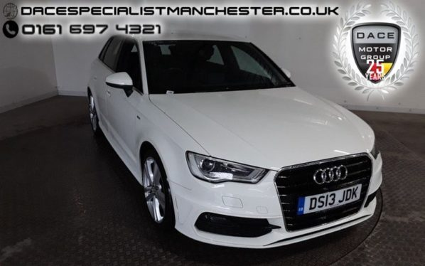 Used 2013 WHITE AUDI A3 Hatchback 2.0 TDI S LINE 5d 148 BHP (reg. 2013-06-11) for sale in Manchester