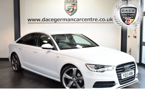 Used 2013 WHITE AUDI A6 SALOON Saloon 2.0 TDI BLACK EDITION 4DR 175 BHP full audi service history (reg. 2013-03-13) for sale in Bolton