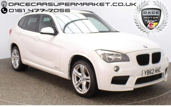 Used 2013 WHITE BMW X1 Estate 2.0 XDRIVE18D M SPORT 5DR HEATED LEATHER 141 BHP (reg. 2013-02-07) for sale in Stockport