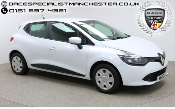 Used 2013 WHITE RENAULT CLIO Hatchback 1.1 EXPRESSION 16V 5d 75 BHP (reg. 2013-07-11) for sale in Manchester