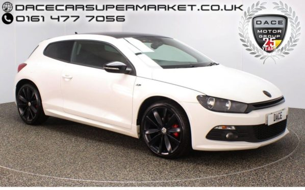 Used 2013 WHITE VOLKSWAGEN SCIROCCO Coupe 2.0 R LINE TDI DSG BLUEMOTION TECHNOLOGY 2DR AUTO 140 BHP NAV FULL SERVICE HISTORY (reg. 2013-09-14) for sale in Stockport