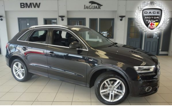 Used 2014 BLACK AUDI Q3 Estate 2.0 TDI QUATTRO S LINE 5d 138 BHP (reg. 2014-05-27) for sale in Hazel Grove