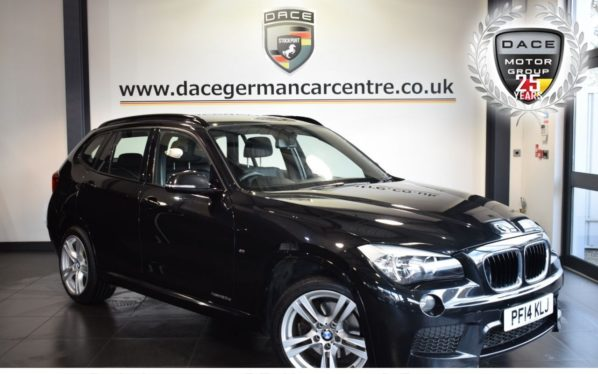 Used 2014 BLACK BMW X1 Estate 2.0 XDRIVE20D M SPORT 5DR 181 BHP superb service history (reg. 2014-06-25) for sale in Bolton