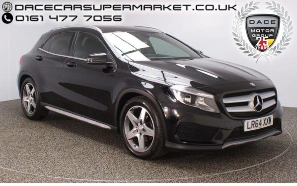 Used 2014 BLACK MERCEDES-BENZ GLA-CLASS Estate 2.1 GLA200 CDI AMG LINE 5DR 136 BHP  SAT NAV  and pound;30 ROAD TAX HALF LEATHER (reg. 2014-11-12) for sale in Stockport