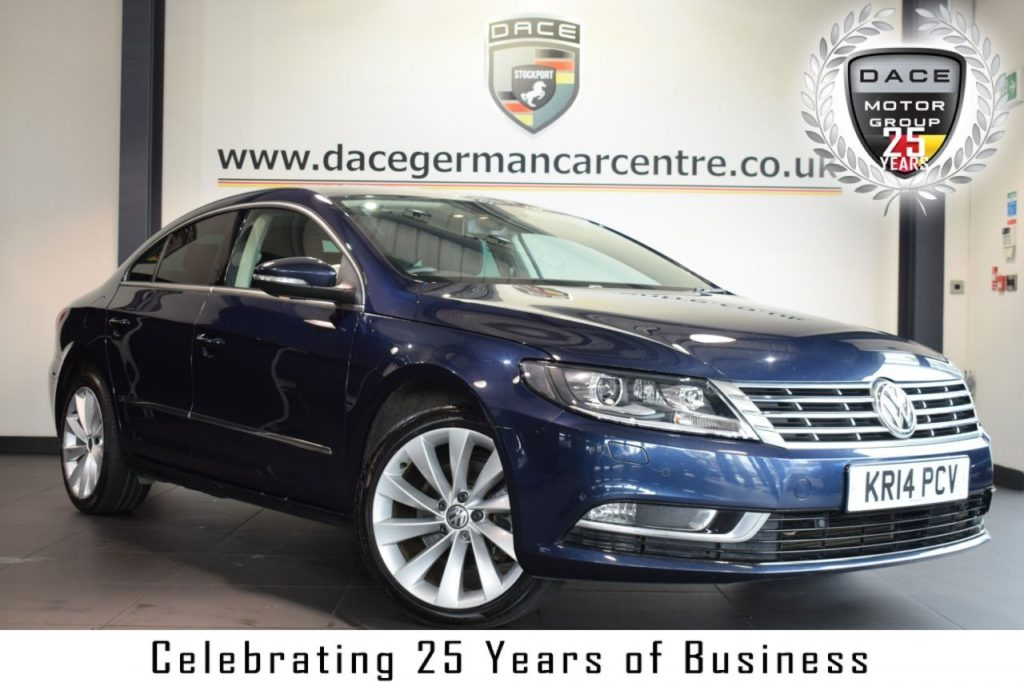 Used 2014 BLUE VOLKSWAGEN CC Coupe 2.0 GT TDI BLUEMOTION TECHNOLOGY DSG 4DR AUTO 175 BHP full service history (reg. 2014-07-01) for sale in Bolton