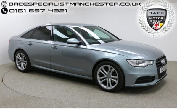 Used 2014 GREY AUDI A6 Saloon 3.0 TDI S LINE BLACK EDITION 4d AUTO (reg. 2014-06-27) for sale in Manchester