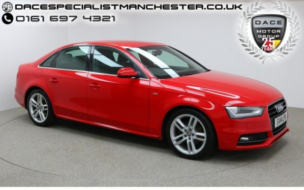 Used 2014 RED AUDI A4 Saloon 2.0 TDI S LINE 4d 148 BHP (reg. 2014-03-01) for sale in Manchester