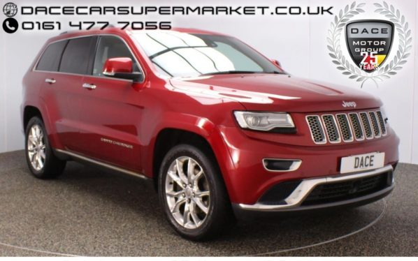 Used 2014 RED JEEP GRAND CHEROKEE Estate 3.0 V6 CRD SUMMIT 5DR AUTO SERVICE HISTORY PANORAMIC ROOF 247 BHP (reg. 2014-07-31) for sale in Stockport