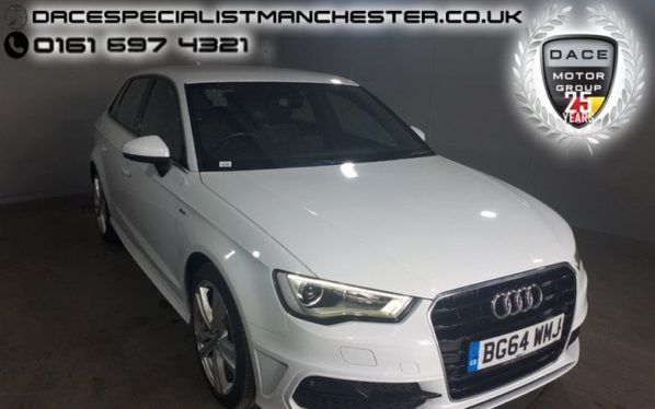 Used 2014 WHITE AUDI A3 Hatchback 1.6 TDI S LINE 5d 109 BHP (reg. 2014-11-12) for sale in Manchester