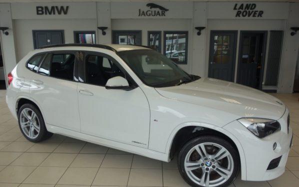 Used 2014 WHITE BMW X1 Estate 2.0 XDRIVE20D M SPORT 5d AUTO 181 BHP (reg. 2014-12-05) for sale in Hazel Grove