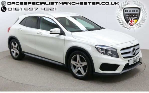 Used 2014 WHITE MERCEDES-BENZ GLA-CLASS Estate 2.1 GLA200 CDI AMG LINE 5d 136 BHP (reg. 2014-10-07) for sale in Manchester