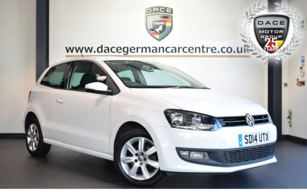 Used 2014 WHITE VOLKSWAGEN POLO Hatchback 1.4 MATCH EDITION 3DR 83 BHP full service history (reg. 2014-03-31) for sale in Bolton
