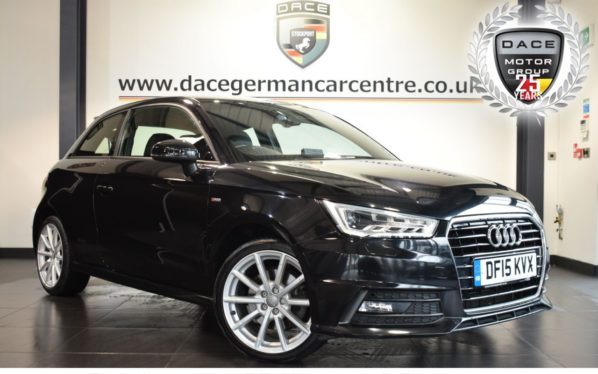 Used 2015 BLACK AUDI A1 Hatchback 1.4 TFSI S LINE 3DR 148 BHP (reg. 2015-07-01) for sale in Bolton