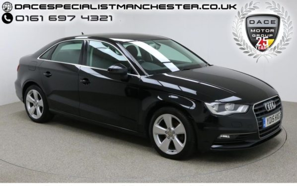Used 2015 BLACK AUDI A3 Saloon 1.6 TDI SPORT 4d 109 BHP (reg. 2015-04-02) for sale in Manchester