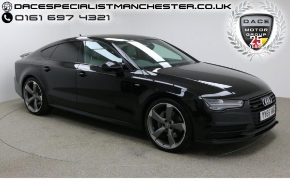 Used 2015 BLACK AUDI A7 Hatchback 3.0 SPORTBACK TDI QUATTRO BLACK ED 5d AUTO 215 BHP (reg. 2015-11-30) for sale in Manchester