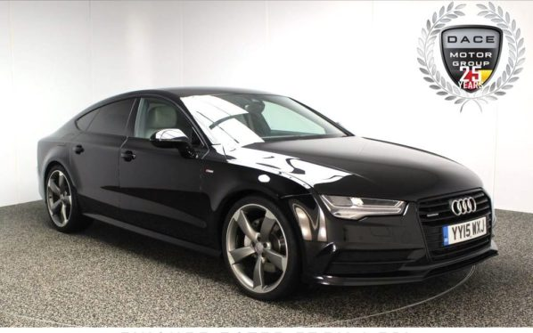 Used 2015 BLACK AUDI A7 Hatchback 3.0 SPORTBACK TDI QUATTRO S LINE BLACK ED 5DR AUTO 215 BHP SAT NAV HEATED SEATS (reg. 2015-06-04) for sale in Stockport