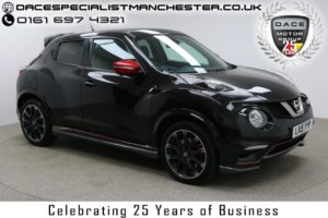 Used 2015 BLACK NISSAN JUKE Hatchback 1.6 NISMO RS DIG-T 5d AUTO 214 BHP (reg. 2015-03-20) for sale in Manchester