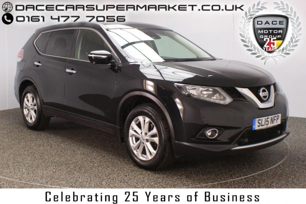Used 2015 BLACK NISSAN X-TRAIL Estate 1.6 DCI ACENTA 5DR PAN ROOF FULL SERVICE HISTORY 1 OWNER DIESEL (reg. 2015-06-04) for sale in Stockport