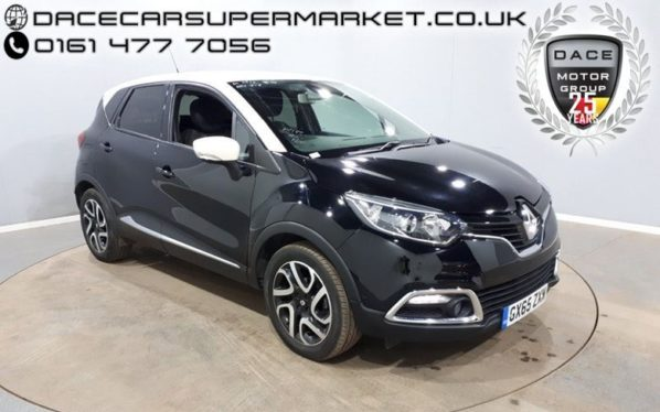 Used 2015 BLACK RENAULT CAPTUR Hatchback 0.9 DYNAMIQUE S NAV TCE 5DR SAT NAV 90 BHP (reg. 2015-09-04) for sale in Stockport