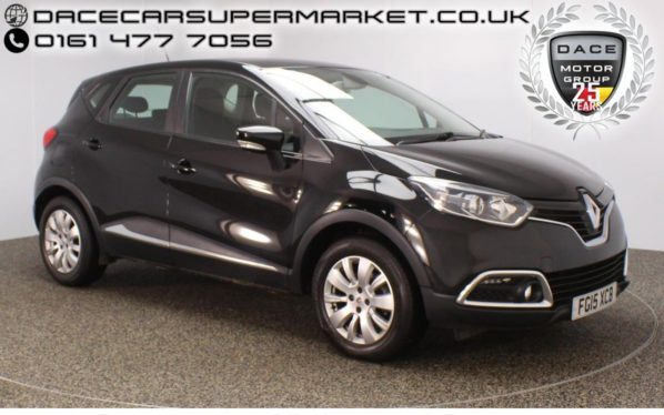 Used 2015 BLACK RENAULT CAPTUR Hatchback 1.5 EXPRESSION PLUS ENERGY DCI S/S 5DR 1 OWNER 90 BHP (reg. 2015-05-21) for sale in Stockport