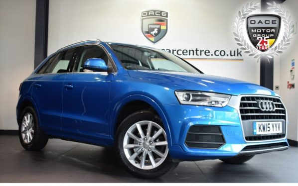 Used 2015 BLUE AUDI Q3 Estate 2.0 TDI SE 5DR 148 BHP full service history (reg. 2015-06-26) for sale in Bolton