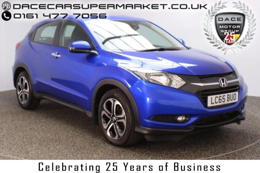 Used 2015 BLUE HONDA HR-V Hatchback 1.6 I-DTEC SE NAVI 5DR 118 BHP 1 OWNER (reg. 2015-11-20) for sale in Stockport