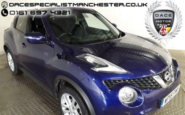 Used 2015 BLUE NISSAN JUKE Hatchback 1.5 ACENTA PREMIUM DCI 5d 110 BHP (reg. 2015-08-10) for sale in Manchester