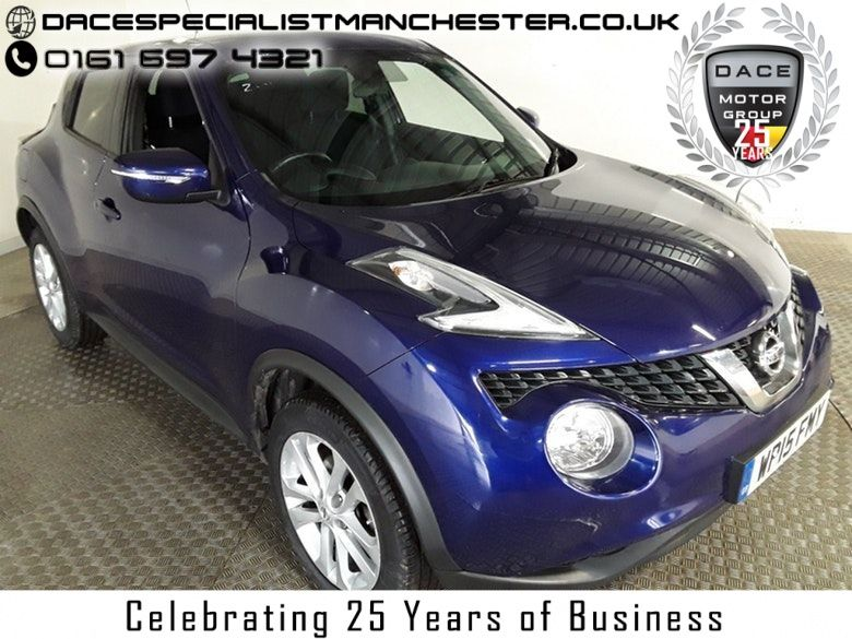 Used 2015 BLUE NISSAN JUKE Hatchback 1.5 ACENTA PREMIUM DCI 5d 110 BHP (reg. 2015-08-10) for sale in Manchester