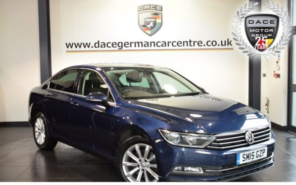 Used 2015 BLUE VOLKSWAGEN PASSAT Saloon 2.0 SE BUSINESS TDI BLUEMOTION TECHNOLOGY 4DR 148 BHP full vw service history (reg. 2015-07-27) for sale in Bolton
