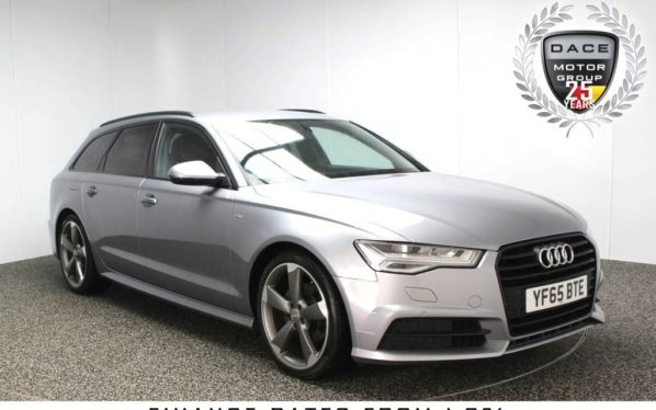 Used 2015 GREY AUDI A6 AVANT Estate 2.0 AVANT TDI ULTRA S LINE BLACK EDITION 5DR AUTO 188 BHP SAT NAV FULL SERVICE HISTORY (reg. 2015-10-27) for sale in Stockport