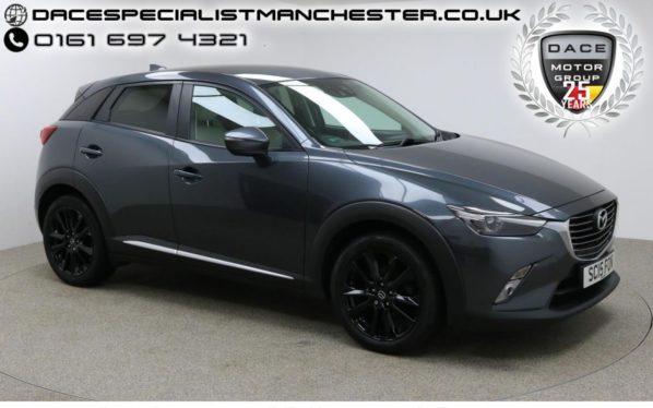 Used 2015 GREY MAZDA CX-3 Hatchback 2.0 SPORT NAV 5d 118 BHP (reg. 2015-07-28) for sale in Manchester
