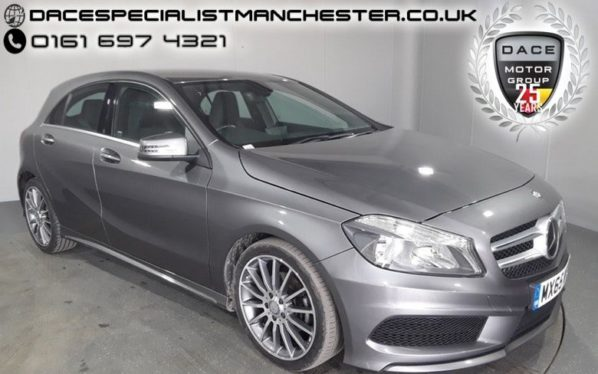 Used 2015 GREY MERCEDES-BENZ A CLASS Hatchback 2.1 A200 CDI AMG SPORT 5d 136 BHP (reg. 2015-09-14) for sale in Manchester