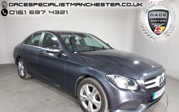 Used 2015 GREY MERCEDES-BENZ C CLASS Saloon 2.1 C220 BLUETEC SE EXECUTIVE 4d 170 BHP (reg. 2015-07-10) for sale in Manchester